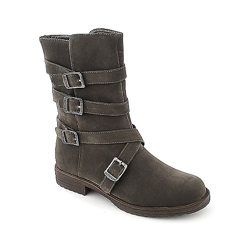Dollhouse Proud taupe low heel ankle riding boot
