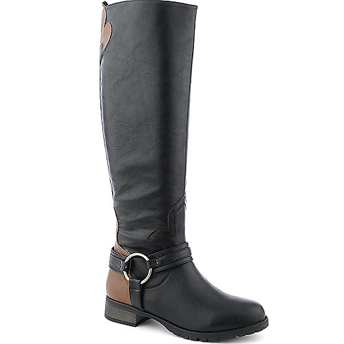 Wild Diva Bojana-20 low heel knee high riding boot