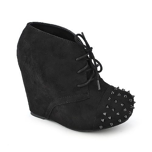Soda Nuka-S wedged platform ankle boot