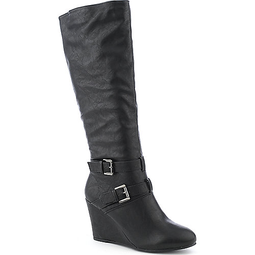 Wild Diva Colette-26 womens wedge knee-high boot