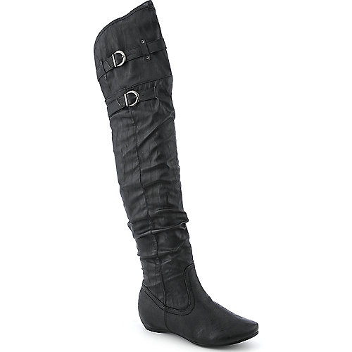 DeBlossom Amar-14 womens thigh-high wedge boot