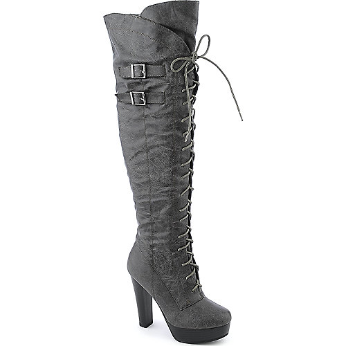 DeBlossom Wilona-10 womens high heel platform thigh-high boots