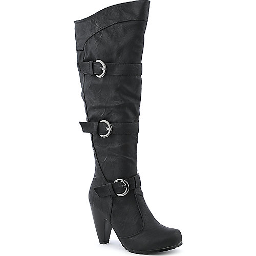 De Blossom Sashi-2 black knee high high heel boot