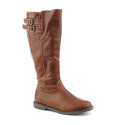 DeBlossom Urvasi-7 womens low heel knee-high western/riding boot