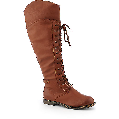 De Blossom Cana-5 knee high low heel combat boot