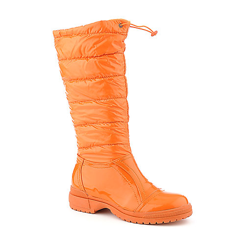 De Blossom Malak-1 bright orange low heel rain boot