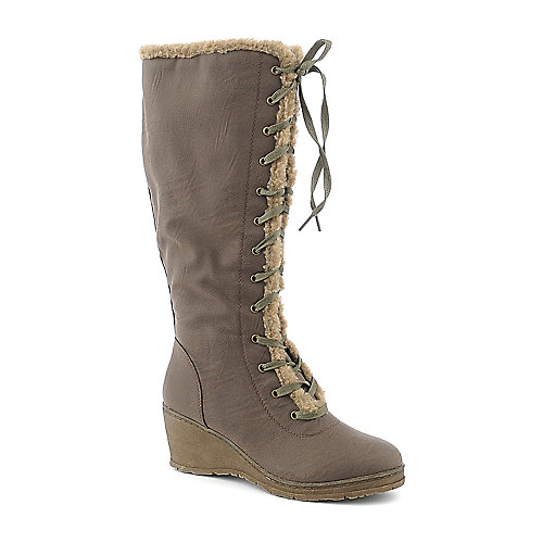 DeBlossom Olinda-1 womens knee-high wedge boot