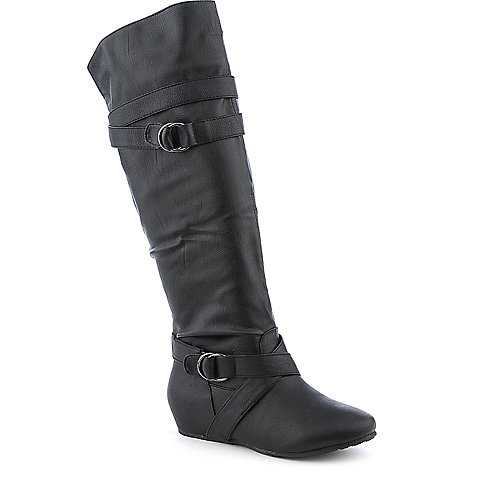 Wild Diva Candies-64 knee high wedged riding boot