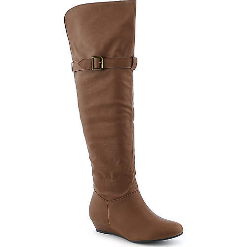 Diva Lounge Iona-20 low heel wedged knee high boot