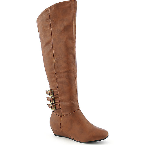Diva Lounge Iona-14 womens thigh high low heel wedge boot
