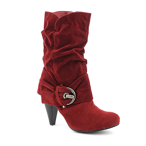 Pierre Dumas Omega-9 red mid calf high heel boot