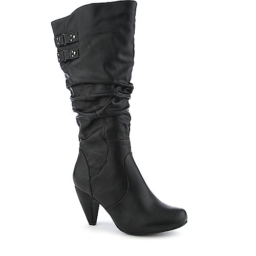De Blossom Genova-10 black knee-high high heel boot