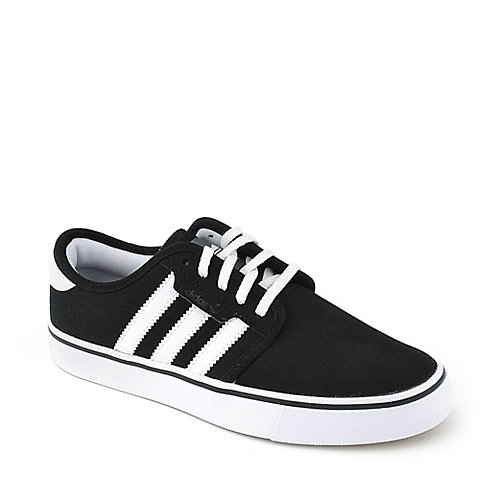 Adidas Seeley youth lifestyle black and white skate sneaker