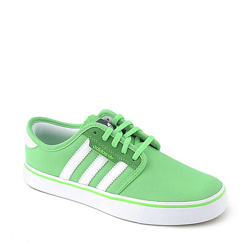 Adidas Kids Seeley green lifestyle skate shoe
