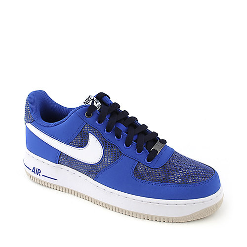 Nike Air Force 1 mens royal blue athletic basketball sneaker