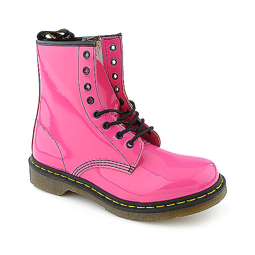 Dr. Martens Womens 1460 pink 8 eye casual combat boot