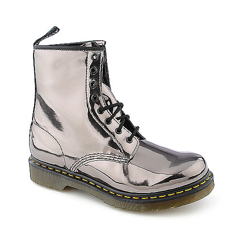 Dr Martens Womens 1460 Silver Low Heel Combat Shiekh Shoes