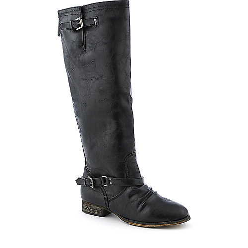 Breckelles Outlaw-91K womens knee high low heel riding boot