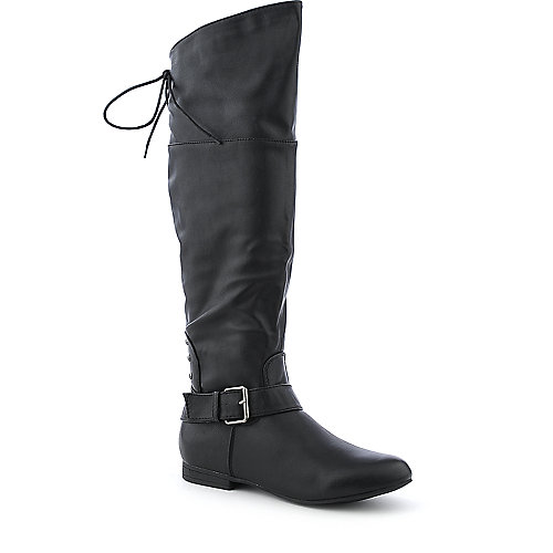 DbDk Alasca-1 brown low heel knee high riding boot