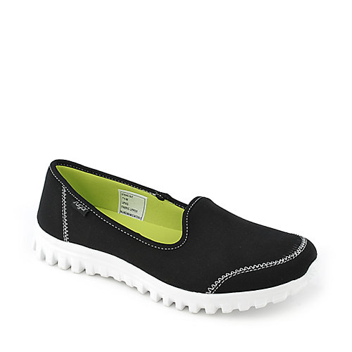 Sugar Strike Out black casual slip on flat shoe