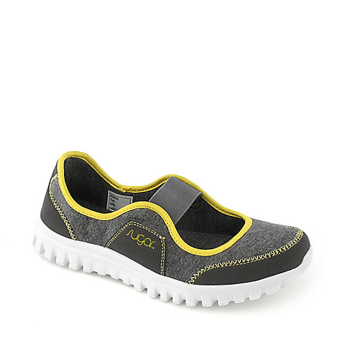 Sugar Strikerz grey flat slip on casual shoe