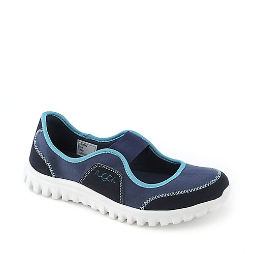 Sugar Strikerz navy blue flat slip on casual shoe