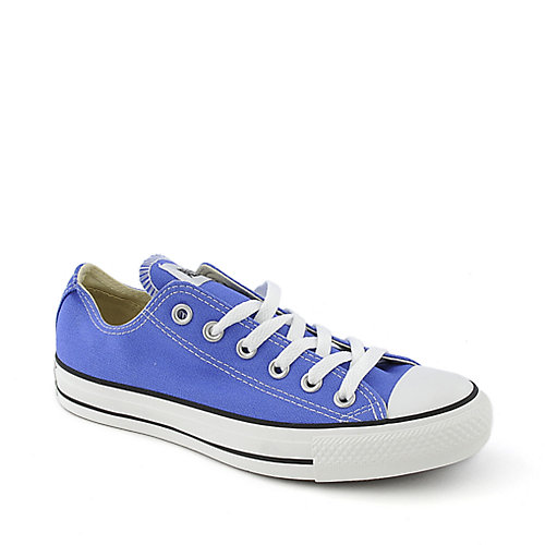 Converse Womens Chuck Taylor OX blue casual lace up sneaker