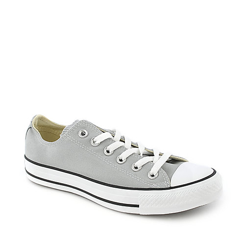 Converse Womens Chuck Taylor OX grey casual lace up sneaker