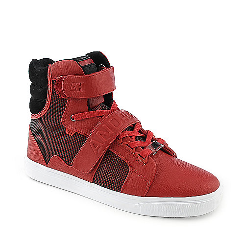 Android Homme Propulsion Hi red athletic lifestyle sneaker