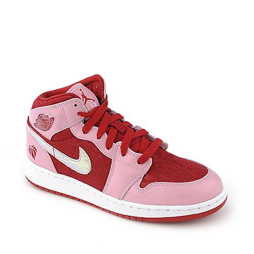 size 40 d0700 522f5 Nike Jordan Girls Air Jordan 1 Mid Prem (GS) youth sneaker