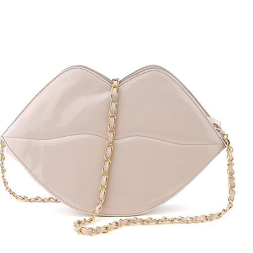 Elleven K Patent Lip Bag shoulder cross body bag