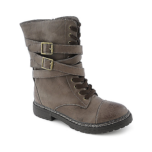 Story Rocket-1 womens low heel mid-calf combat boot