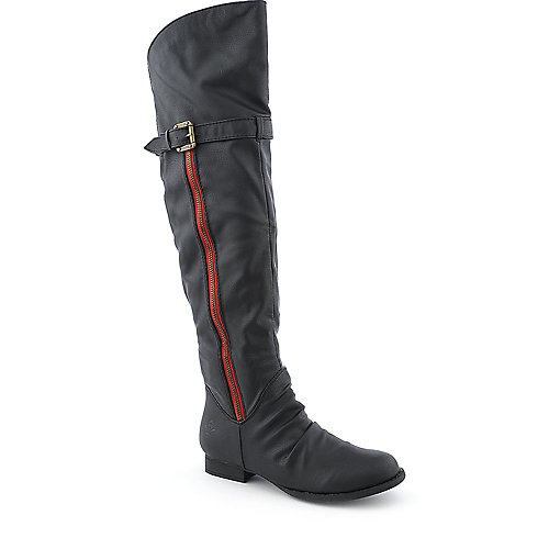 Groove Rhodes womens low heel knee-high western/riding boot