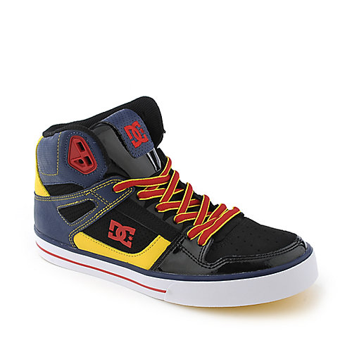 DC Spartan High WC navy and red mens athletic skate shoe