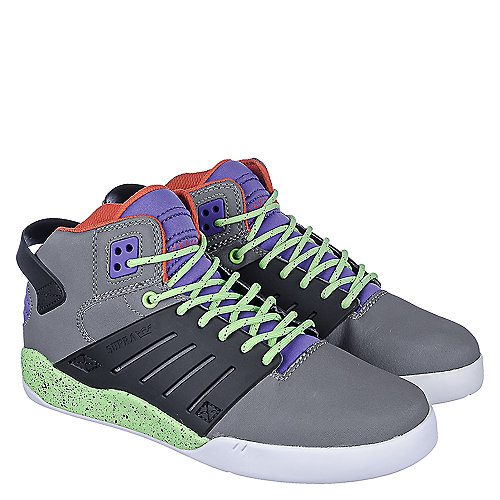 758e64296c3a Supra Grey Black Lime Green Purple Men s Skytop III Athletic Lifestyle  Sneaker