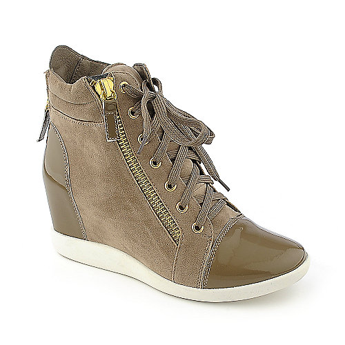 Glaze Micha-1 taupe casual shoe sneaker wedge