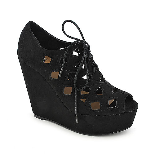 Shiekh Resist-H black platform wedge