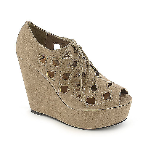 Shiekh Resist-H taupe platform wedge