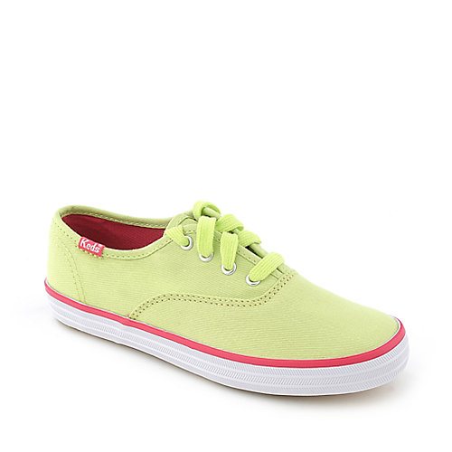 Keds Original Champion lime green youth casual sneaker