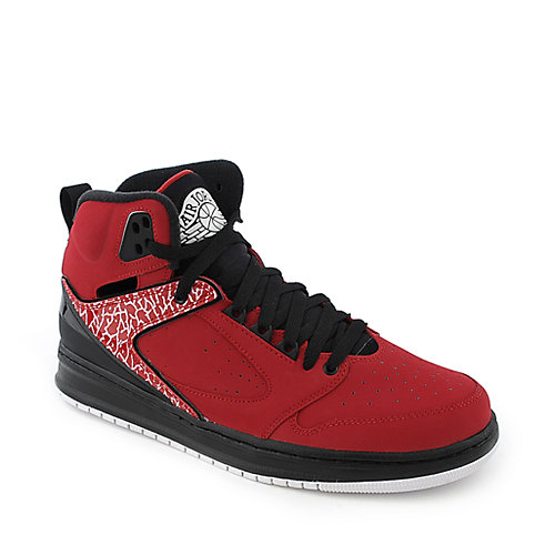 Jordan Sixty Club mens red and black athletic basketball sneaker