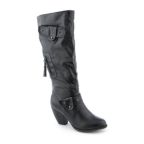 Bamboo Bongo-06 womens knee high western high heel boot