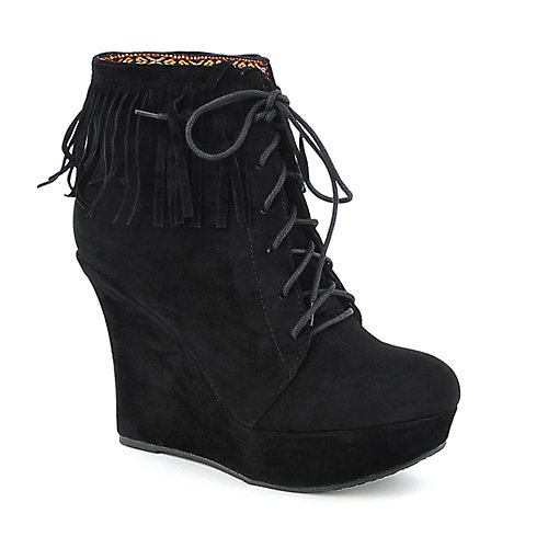 Bamboo Charli-24 womens platform ankle wedged boot