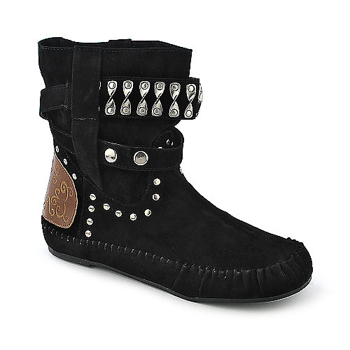 Bamboo Friends-23 womens flat mid calf boot