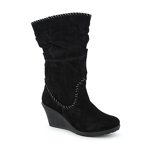 Bamboo Marlyn-12 womens mid calf wedged boot