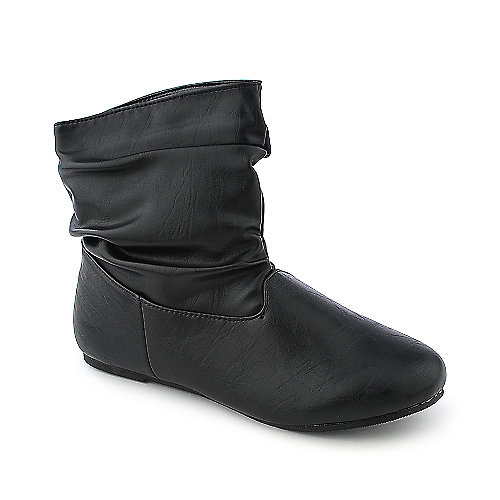 Bamboo Rebeca 53 N womens black flat ankle boot