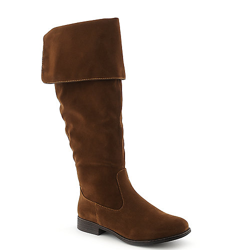 Dollhouse Moscow womens tan knee high western low heel riding boot