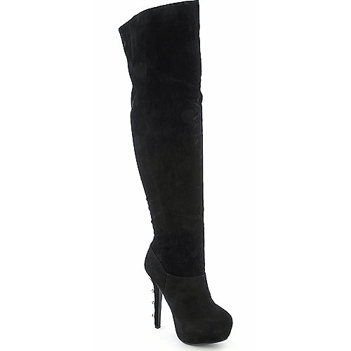 Dollhouse Queen womens thigh high platform high heel boot