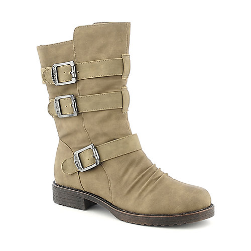 Dollhouse Tough womens mid calf low heel riding boot