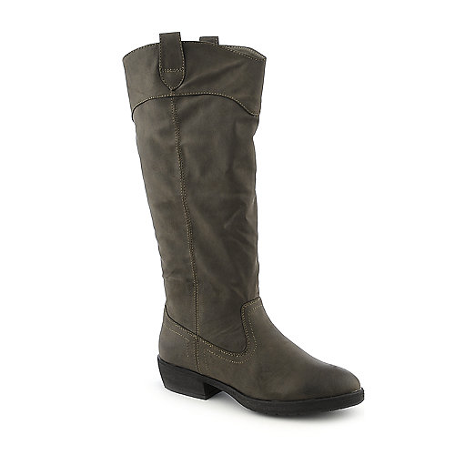 Dollhouse Western womens taupe knee high western high heel riding boot
