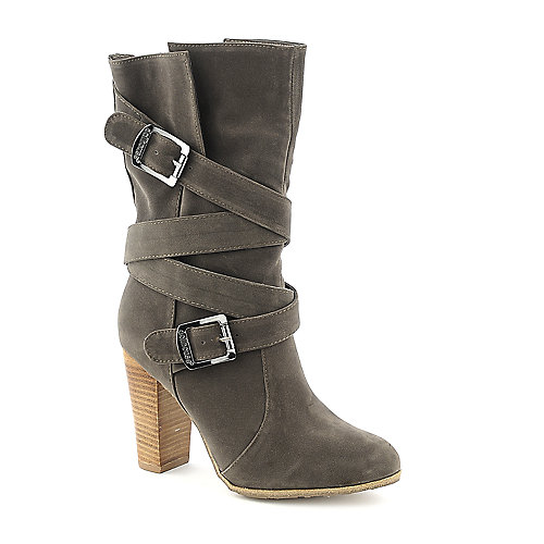Dollhouse Dare taupe mid calf high heel boot